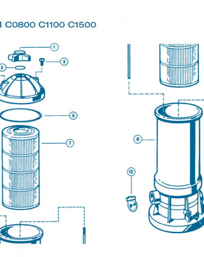 Filtre Gamme Star Clear II - Num 13 - Tube purge dair C1100