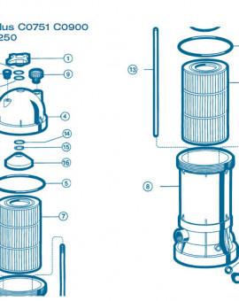 Filtre Gamme Star Clear Plus - Num 1 - Poignée de fermeture C1750