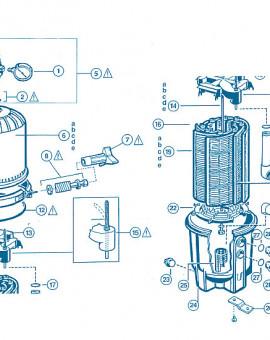 Filtre Pro Grid - Num 16 - Ensemble élément filtrant DEX2400