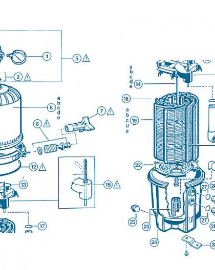 Filtre Pro Grid - Num 20e - Elément filtrant court DEX7200