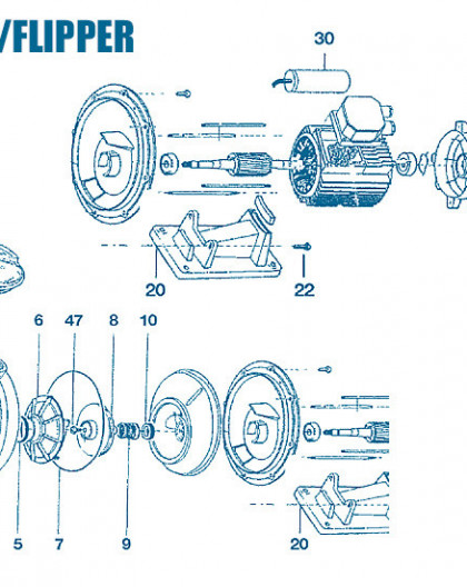 Pompe EuroFlip - Flipper - Num 8 - Turbine 3 - 4CV tri