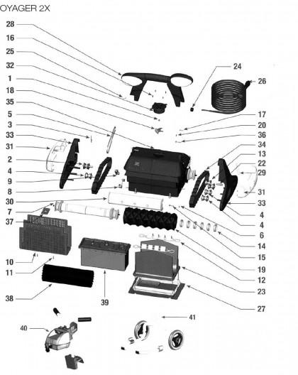 Brosse mousse noire pour VOYAGER 2X, sur image Num 19