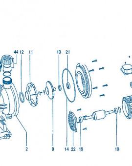 Pompe Silen - Num 40 - Couvercle ventilateur