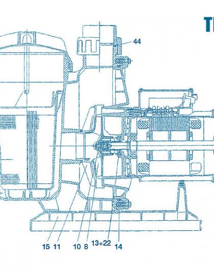 Pompe Tifon - Num 8 - Turbine 3 - 4 CV mono