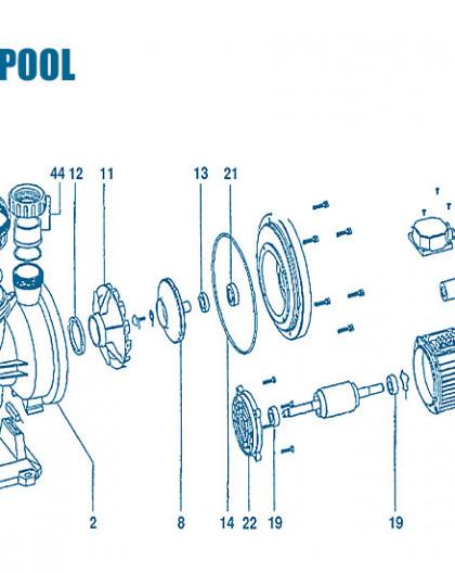 Pompe Superpool - Num 40 - Couvercle ventilateur