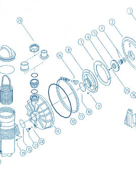 Pompe Challenger - Num 25 - Joint daxe moteur