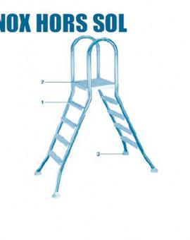 Pour Echelle Hors Sol - Num 3 - Tampon blanc avec rotule