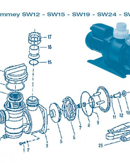 Pompe Swimmey - Num 2 - Rondelle vis corps de pompe