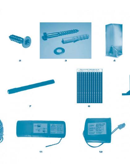 Alarme Biprotect et Biprotect Plus - NumNR - Batterie 8V 3