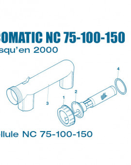Electrolyseur Ecomatic NC 75, 100, 150 jusquen 2000 - Cellule - Num 1 - Ecrou - Cellule NC75 à NC150
