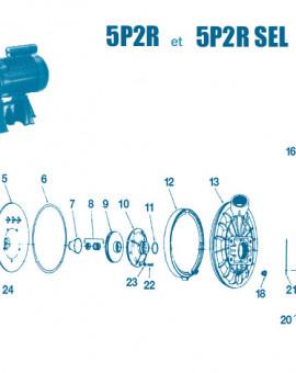 Pompe 5P2R - Num 7 - Cuvette en cuivre