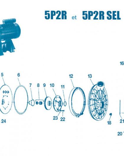 Pompe 5P2R SEL - Num 10 - Diffuseur 0,5 CV et 0,75 CV