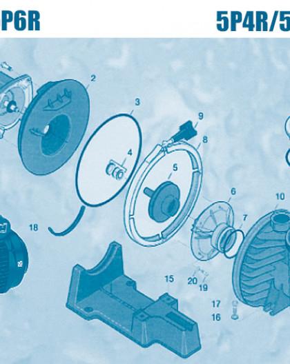 Pompe 5P4R et 5P6R - Num 11 - Couvercle de préfiltre P4R