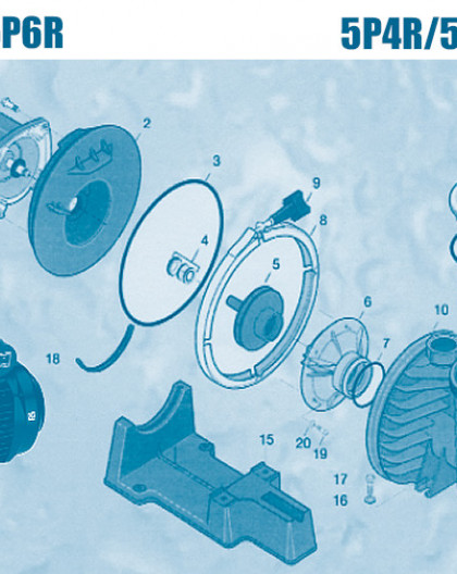 Pompe 5P4R et 5P6R SEL - Num 19 - Vis de diffuseur