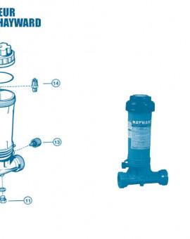 Distributeur Chimique CL0100 Euro - Num 11 - Bouchon de vidange avec joint