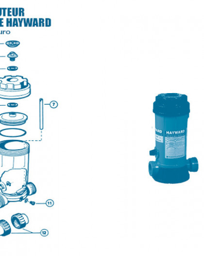 Distributeur Chimique CL0200 Euro - Num 12 - Kit raccordement embouts 50 mm