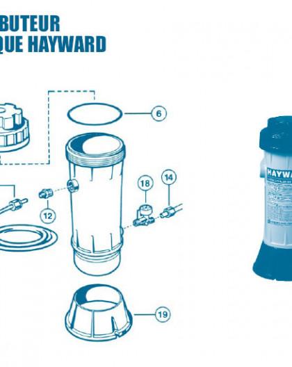 Distributeur Chimique CL0110 - Num 4b - Couvercle pour brominateur