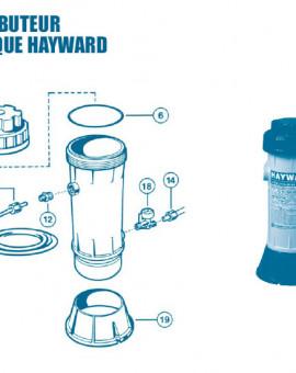 Distributeur Chimique CL0110 - Num 6 - Joint torique de couvercle