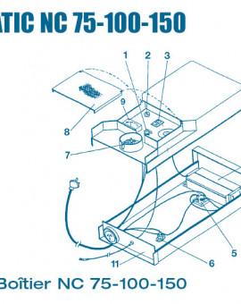 Electrolyseur Ecomatic NC 75, 100, 150 jusquen 2000 - Boitier - Num 3 - Interrupteur