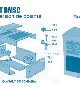 Electrolyseur Ecosalt BMSC inversion de polarité - Boitier - Num 1563 - Boîtier partie supérieure