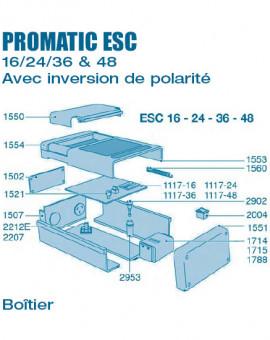 Electrolyseur Promatic ESC inversion de polarité 16 - 24 - 36 - 48 - Boitier - Num 1117-36 - Carte électronique ESC36