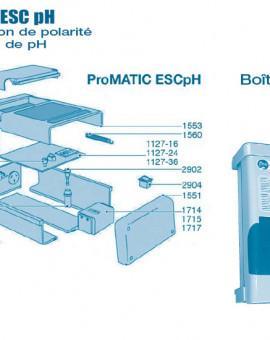 Electrolyseur Promatic ESC pH - Boitier - Num 1109-36 - Carte pompe ESC pH 36