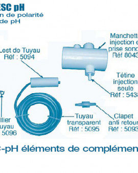 Electrolyseur Promatic ESC pH - Autres Compléments - Num 8043 - Manchette injection et prise sonde