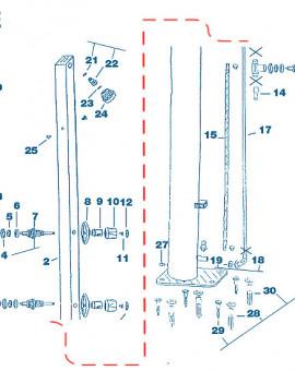 Douche - Num 11 - Vis fixation de robinet