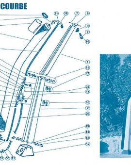 Douche Courbe - Num 13 - Vis inox 8 x 16