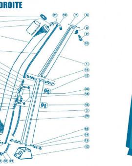 Douche Droite - Num 12 - Embase plastique