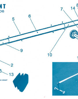 Pour Enrouleur Modèle T jusquà 2006 - Num 3 - Molette de serrage frein