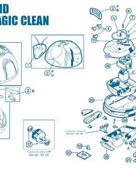 Aquadroid Elite et Magic Clean - Num 1 - Tête complète avec yeux antennes