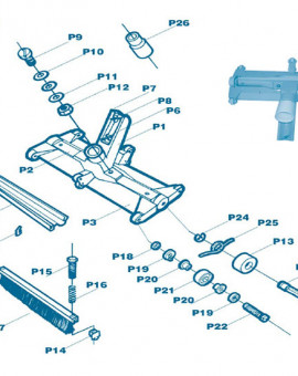 Balai Manuel Failocks - Num P9 - Vis principal longueur 20 mm