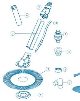 EZ Vac - Num N.R. - Boîte avec 6 ml de tuyau + 2 adaptateurs