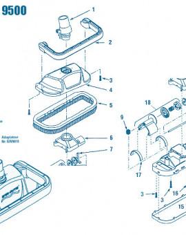 Great White 9500 - Num 8 - Kit de roues (3 engrenages)