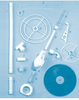 Manta - Num 18 - Disque à arêtes bleu