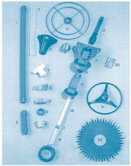 Classic - Num 2 - Tuyau 22 cm bleu