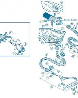 Polaris 65 - Num 12 - Kit roulettes module inférieur