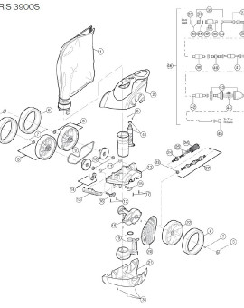 Ecrou de tuyau pour Polaris 3900S, sur image Num 34