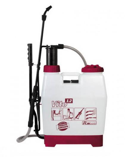 Pulvérisateur 12L à dos à pression entretenue VITO12 spécifique produits agressifs