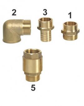 """Raccord male/cannelé 1"""""""" x25mm laiton, Num3 sur Image"""