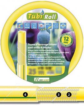 Tuyau TUBIROLL tricoté antivrille jaune transp