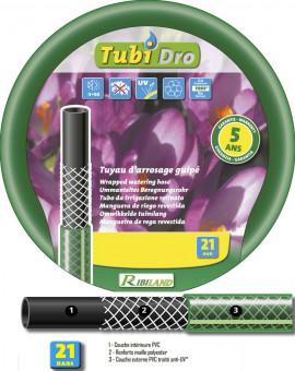 Tuyau TUBIDRO guipé vert translucide 25m diam 15mm