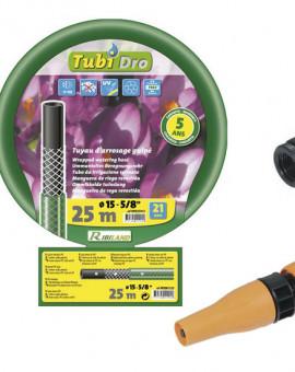 Batterie tuyau TUBIDRO guipé vert translucide