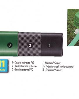 Tuyau plat diam, 1 /25mm long, 20m 4/12 bars