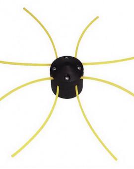 Tête de débroussailleuse universelle avec 8 fils carrés