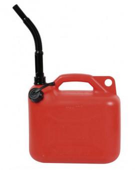 Jerrican plastique pour essence 5 L + bec verseur