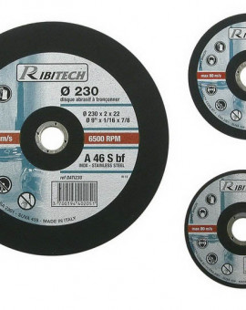Disque à Tronconner Inox, Diamètre 230 mm, Plat