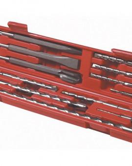 Coffret 12 pièces système SDS 2 burins, 1 pointerolle, 9 forets