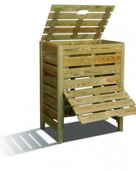 Composteur de jardin en bois de 400 litres